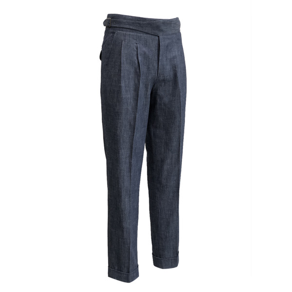 SORTIE - Denim Gurkha Pants (Navy)