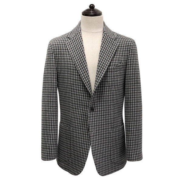 [SORTIE] Gingham sports Jacket (Gray)
