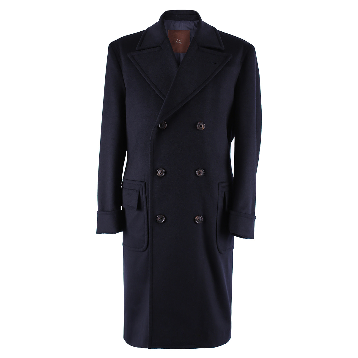 [프루이] DOUBLE BREASTED COAT_POLO_NAVY