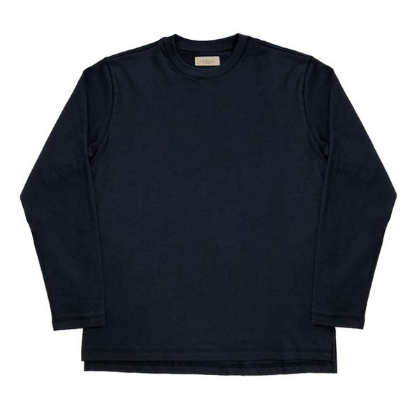 [솔티] 3N605 Crew neck T-Shirts(Navy)
