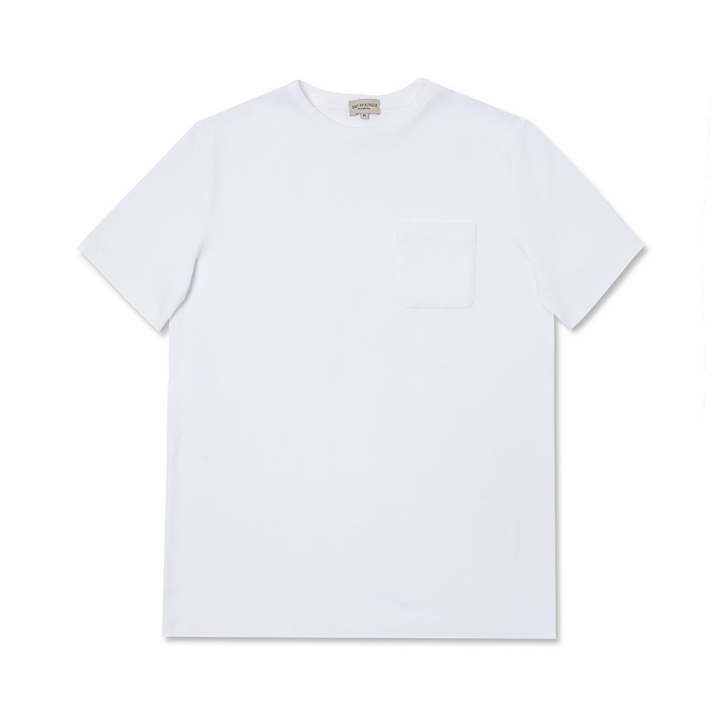 [맨인정글]Pino Crew-neck Pocket T-Shirt - White