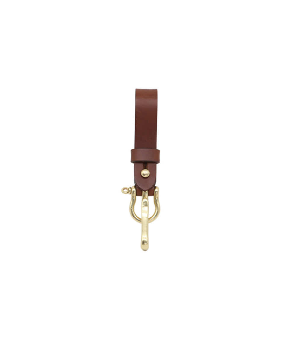 [Brass boats] Multi Key-ring Lanyard (Dark brown)