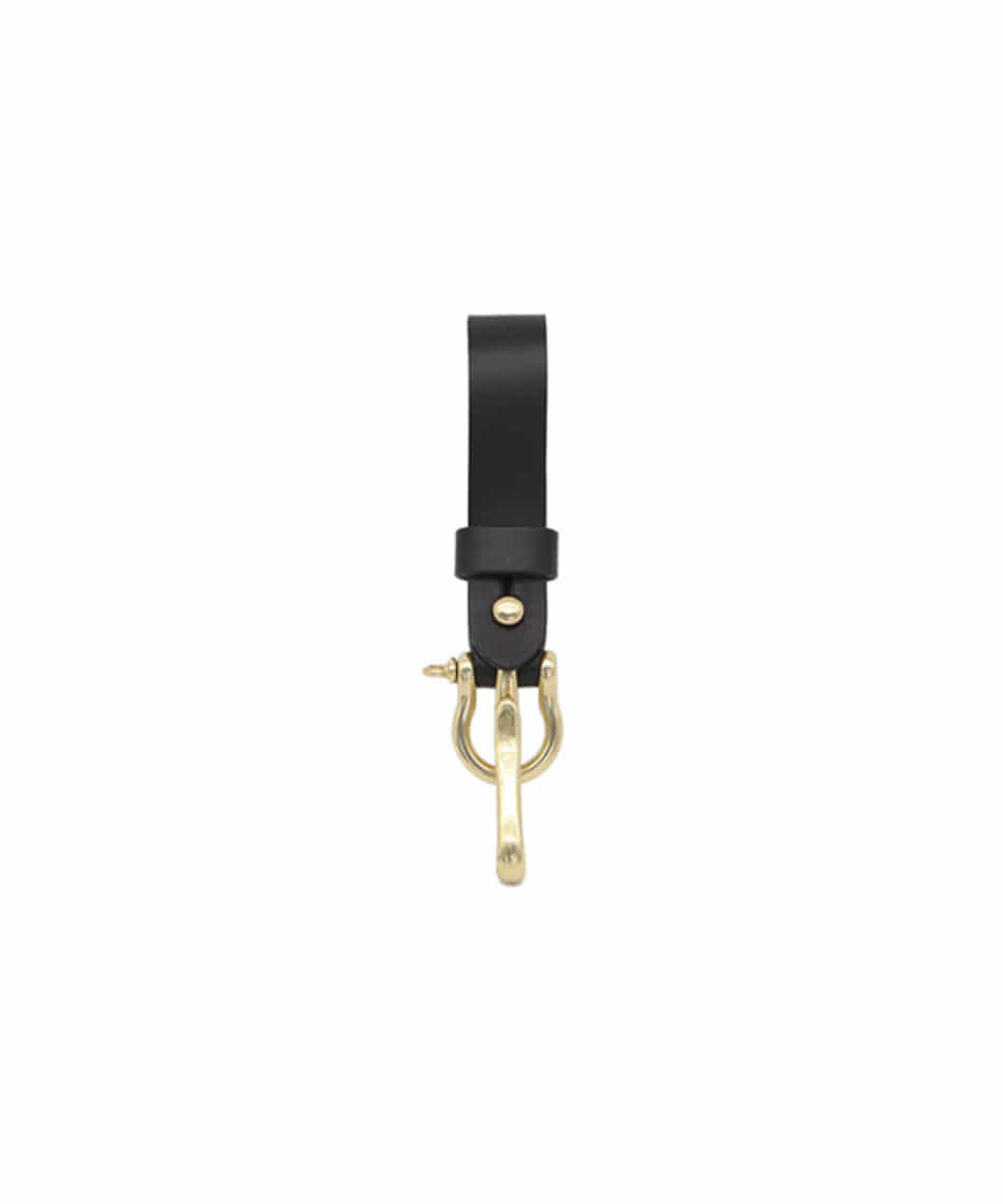 [Brass boats] Multi Key-ring Lanyard (Black)