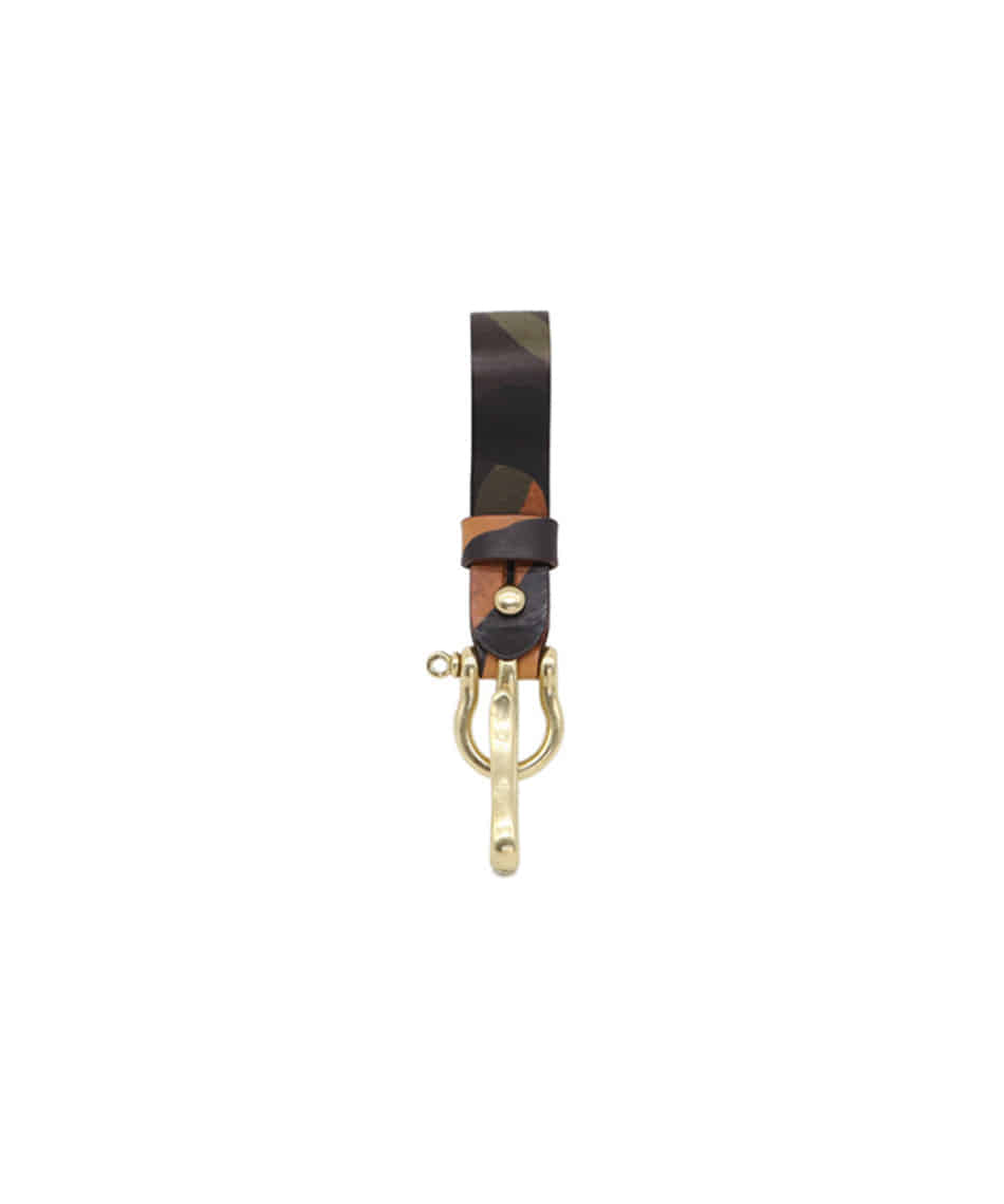 [Brass boats] Multi Key-ring Lanyard (Cuoio Camo)