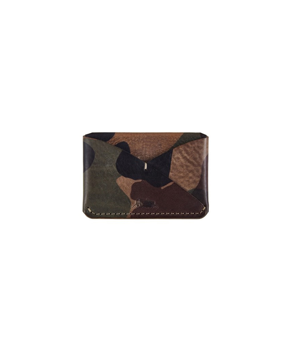 [Brass boats] Card Case Single (Grigio Camo)