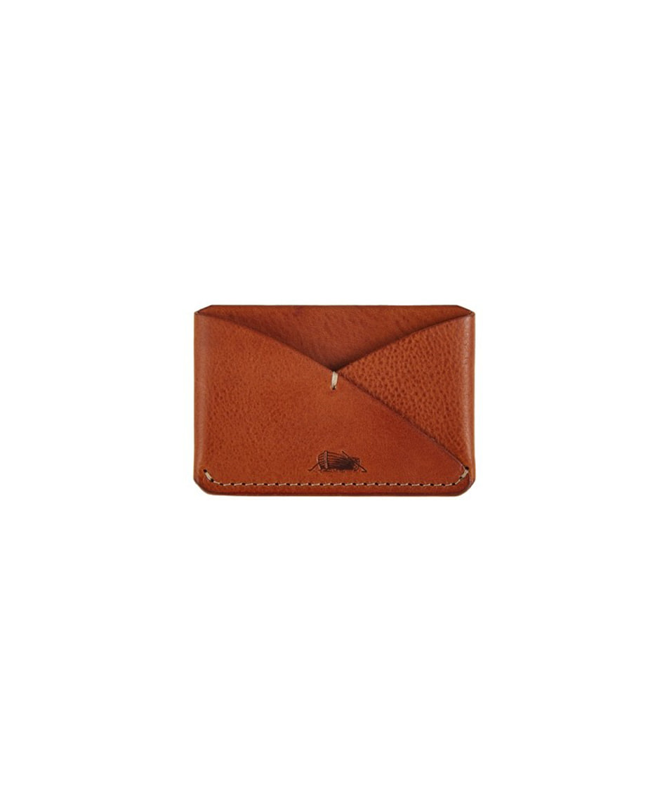 [Brass boats] Card Case Single (Cognac Tan)