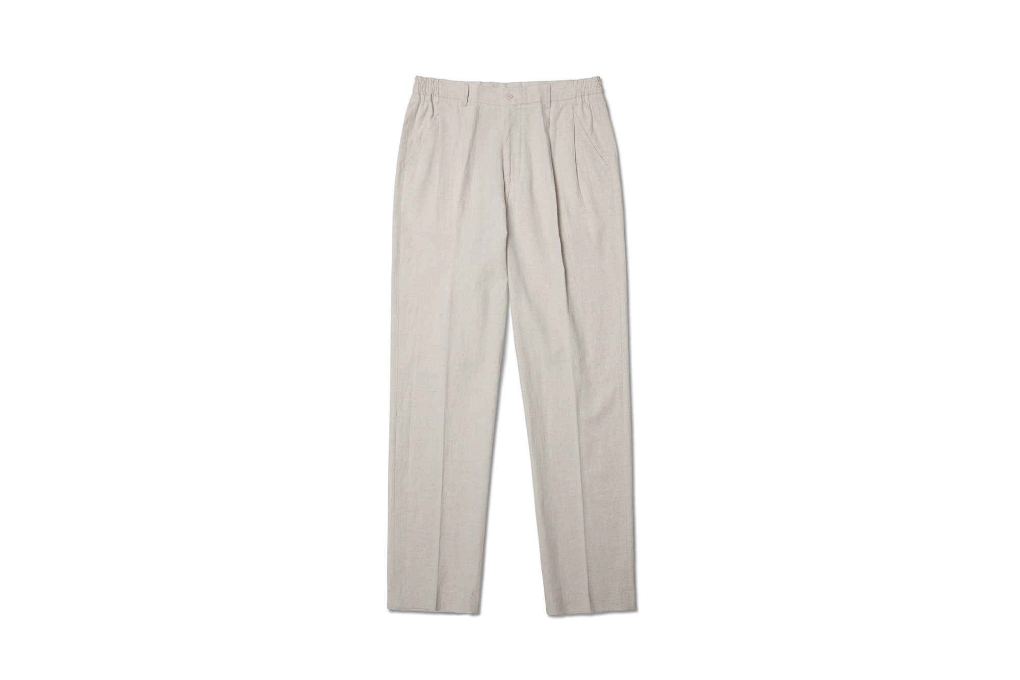 19ss Linen nice pants Beige [NIDDLE AND STITCH]