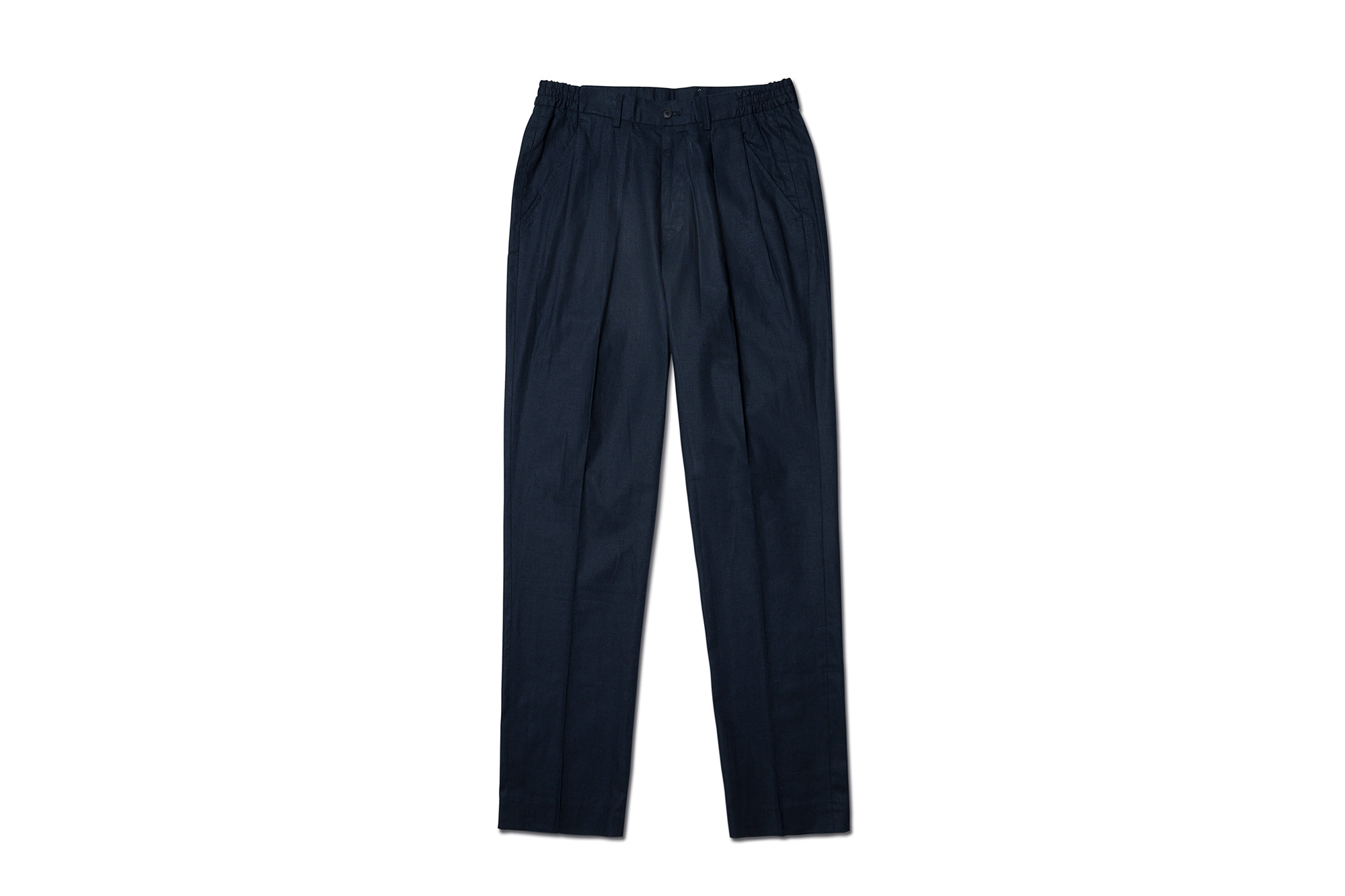 19ss Linen nice pants Navy [NIDDLE AND STITCH]