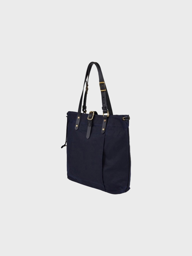 [Brass boats]  Wax Tote 'Navy - Martexin'