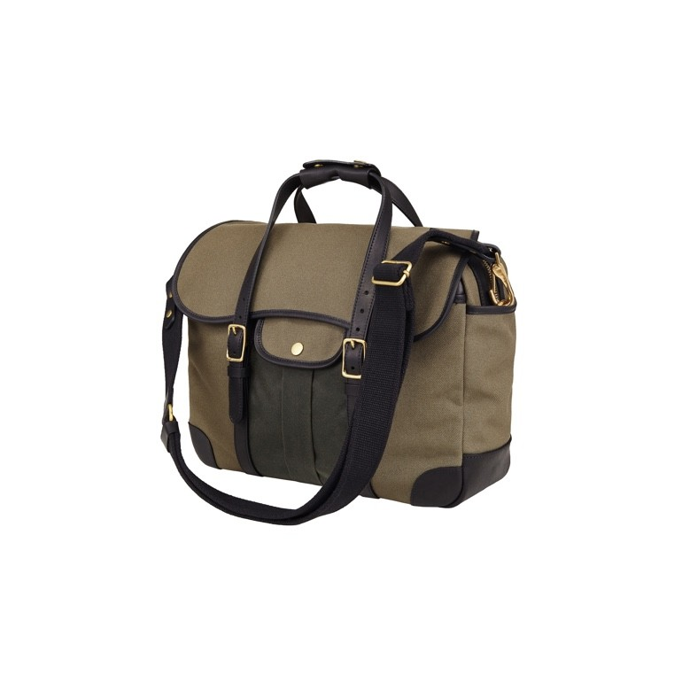 [Brass boats] Briefcase 'Swedish Army Khaki - Martexin Pocket'