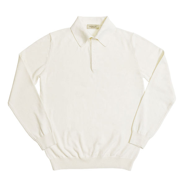SORTIE - 14gg Polo Collar Knit (Ivory)