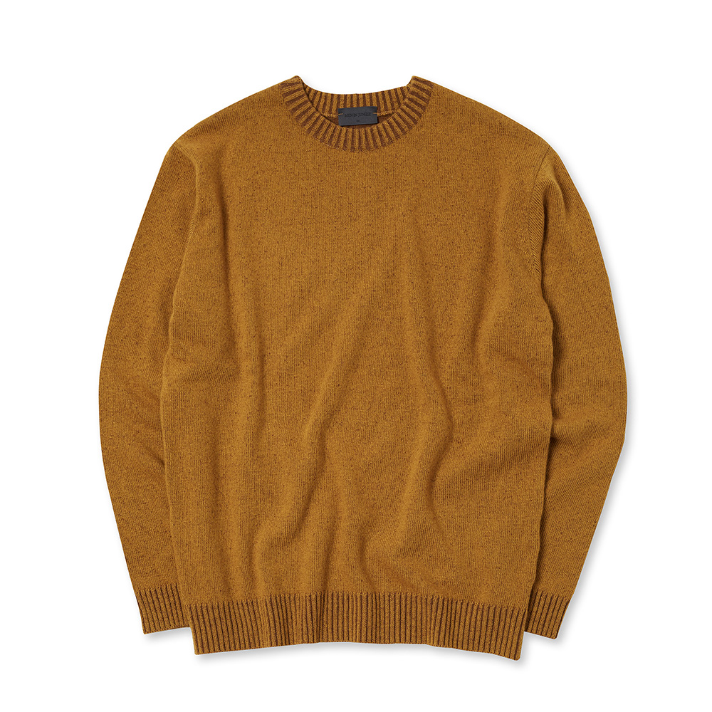 [MIJ] Andy Mixed Crew-neck Sweater - Mustard