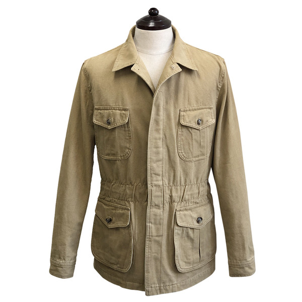 SORTIE - Washed Fatigue Jacket (Beige)
