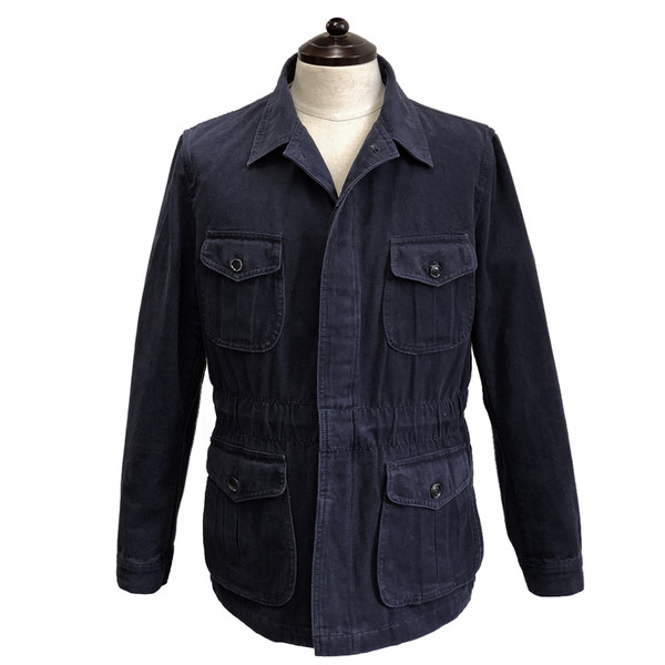 SORTIE - Washed Fatigue Jacket (Navy)