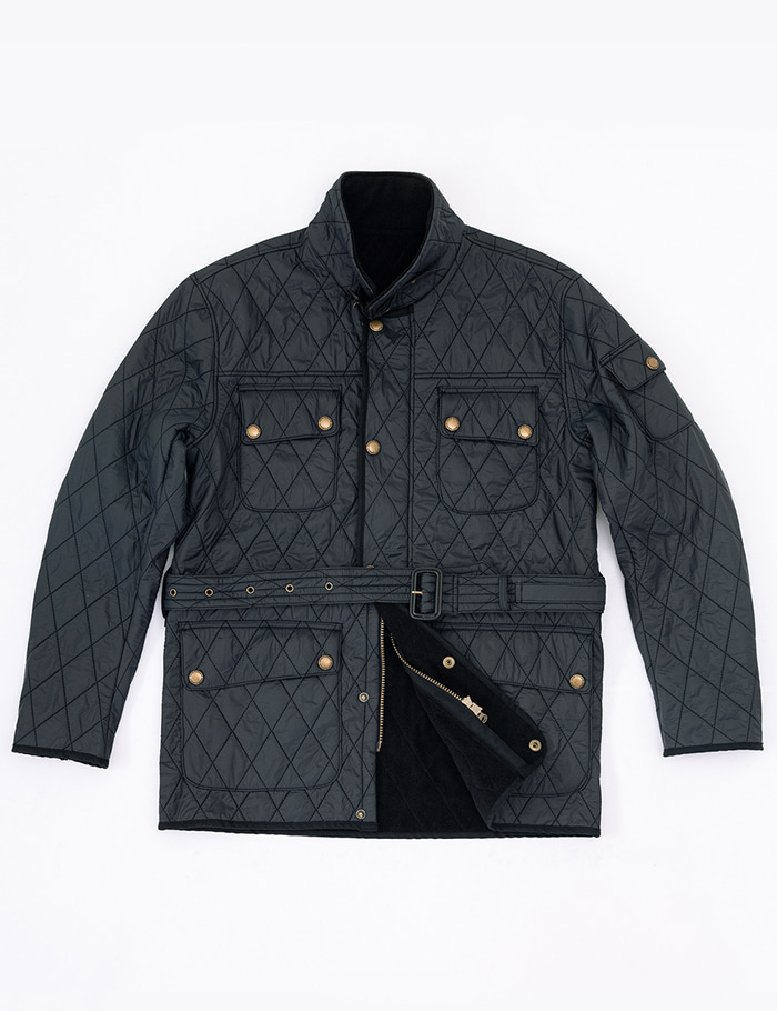 [울투스 바스터즈] Racer Quilted Jacket Navy