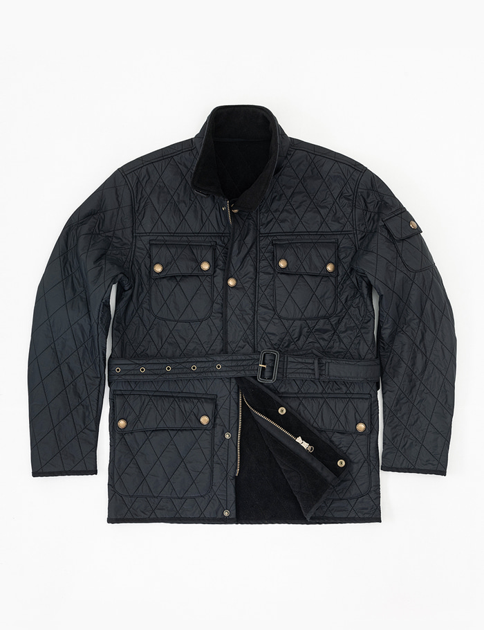 [울투스 바스터즈] Racer Quilted Jacket Black