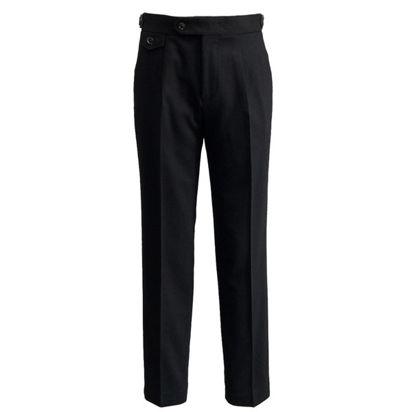SORTIE - Wool Lycra Sports Trousers (Black)