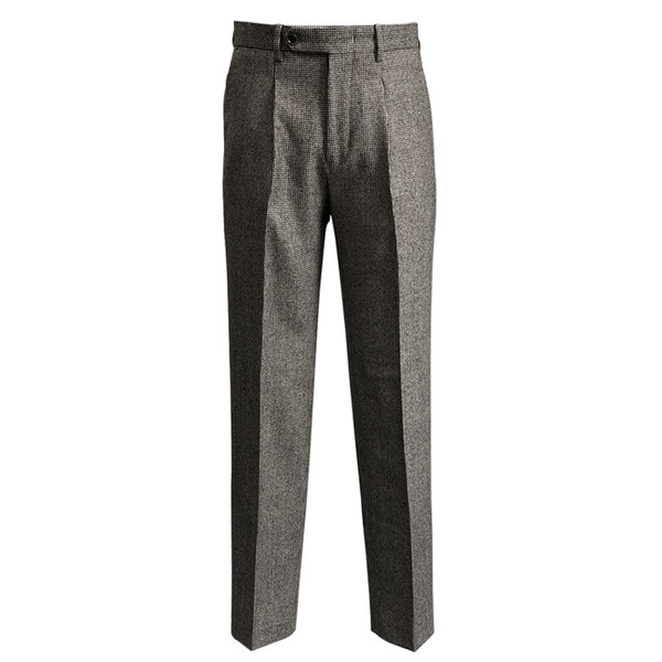 SORTIE - Hound tooth Check Wool Trousers (Brown)