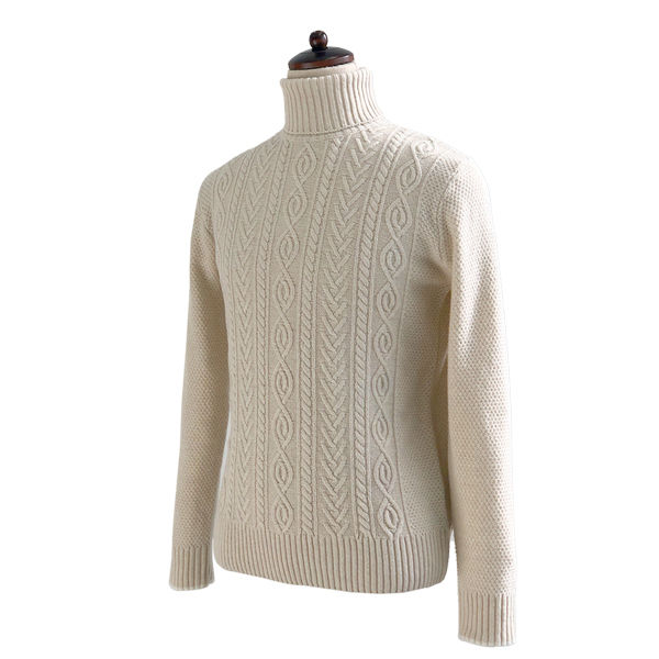 솔티 - 7gg Fisherman Turtle-neck (Oatmeal)