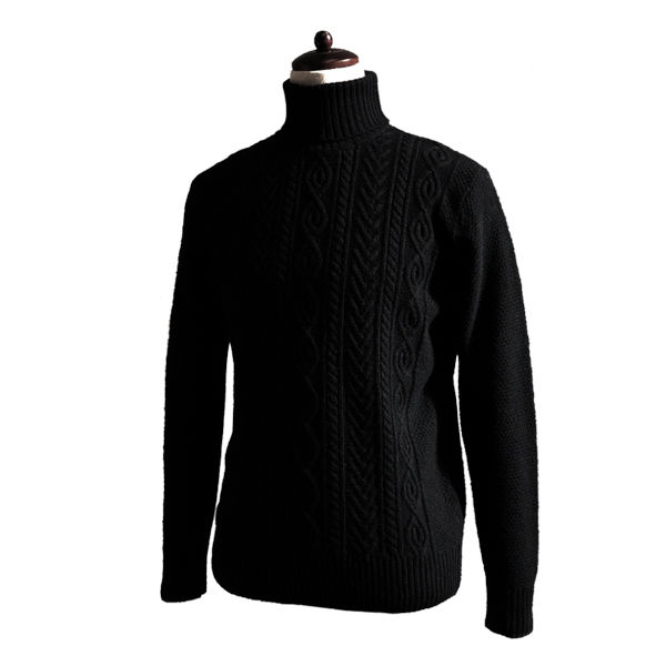 솔티 - 7gg Fisherman Turtle-neck (Black)