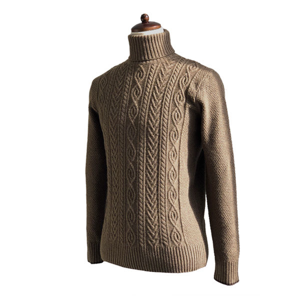 솔티 - 7gg Fisherman Turtle-neck (Brown)