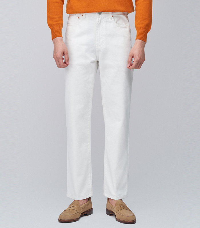 [메버릭] RICK-03 OFF WHITE DENIM PANTS