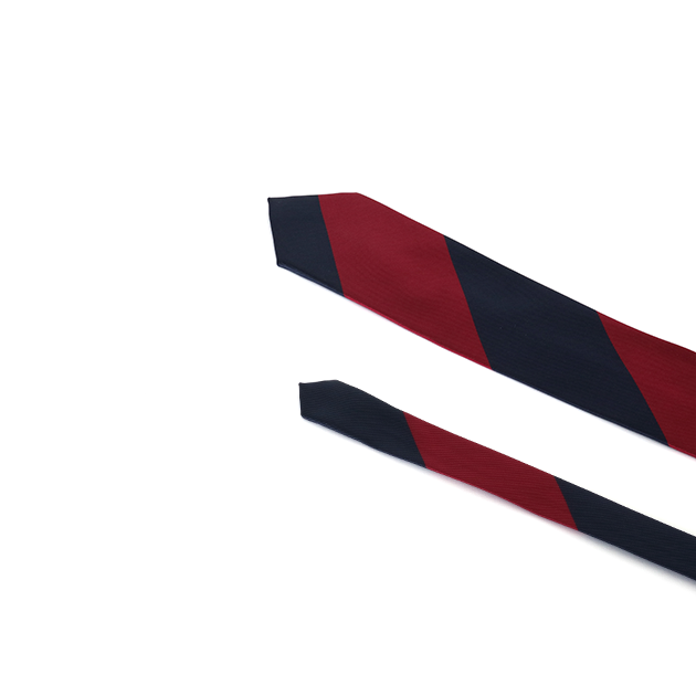 [파이] STRIPE SOLID TIE RED