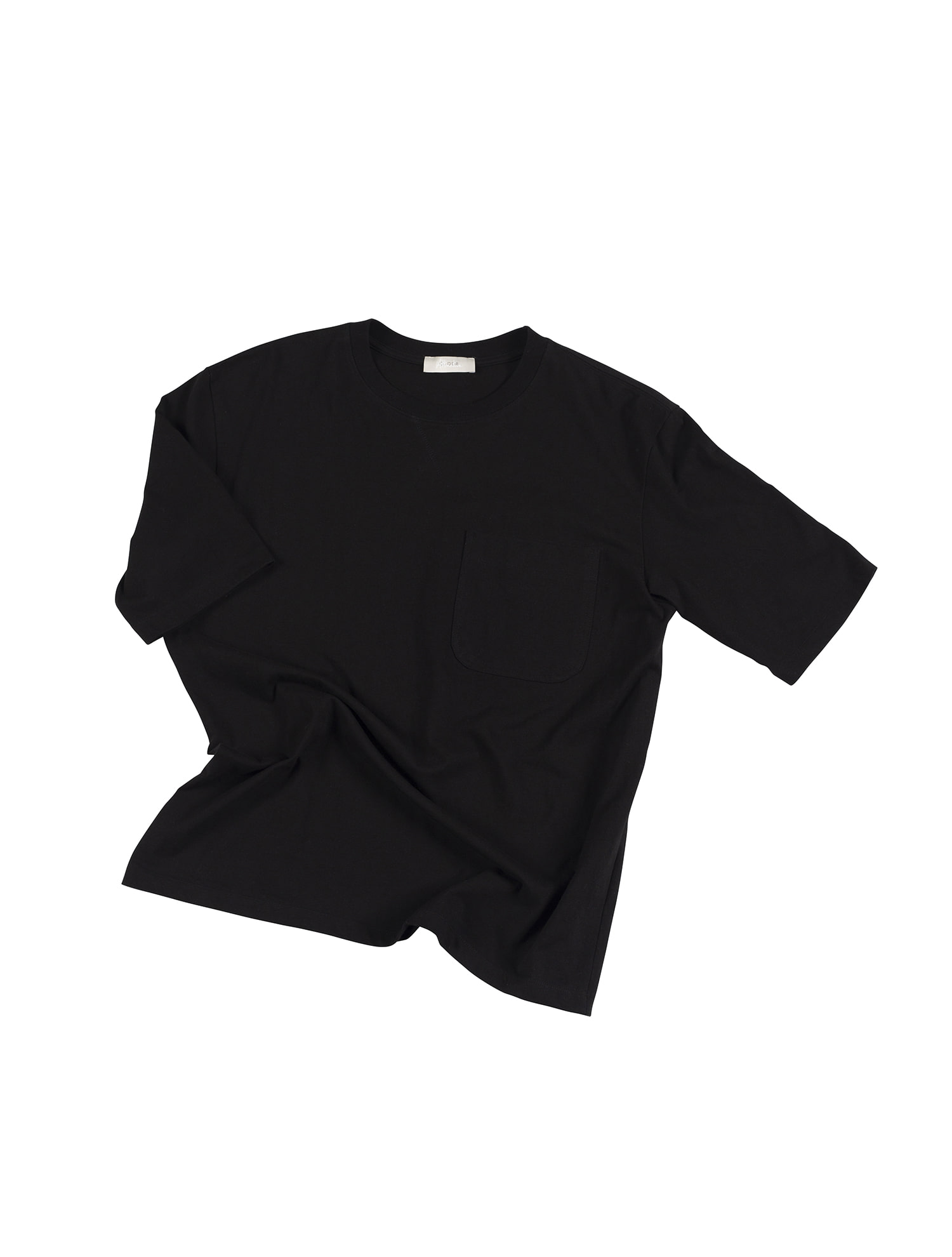 [올드비] ATTRACTIVE Crew neck Pocket Tee - Black