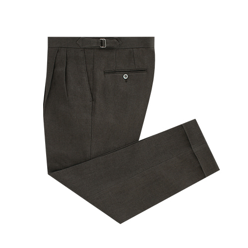 [벨리프] Linen two tuck adjust pants (Olive)