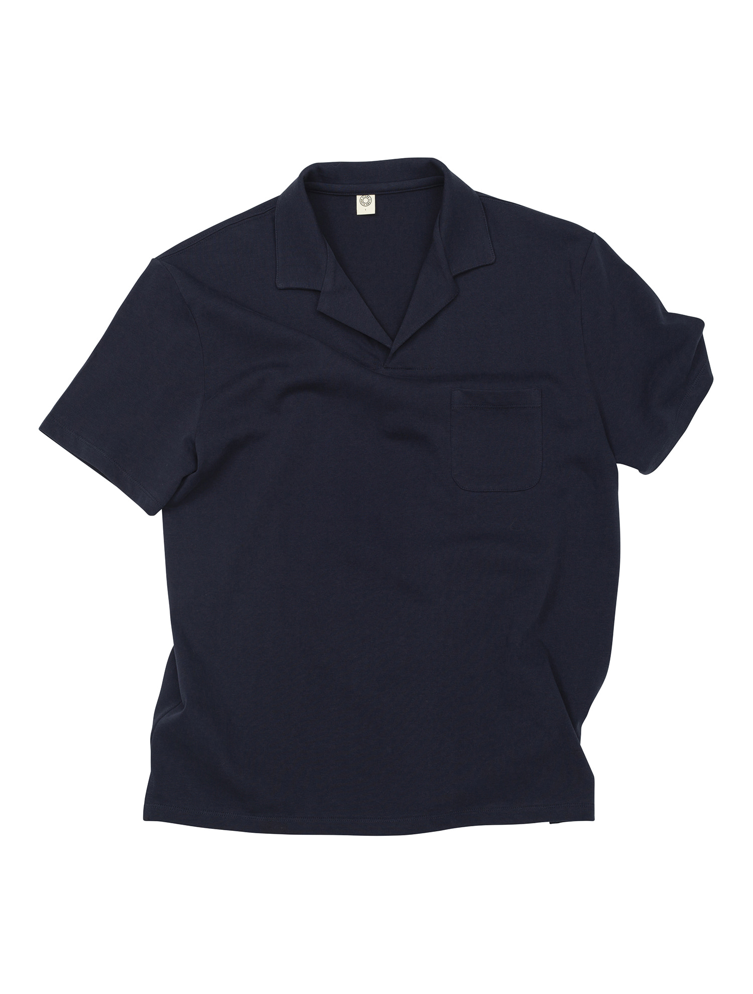 [올드비] GEN COTTON OPEN COLLAR POLO SHIRT NAVY