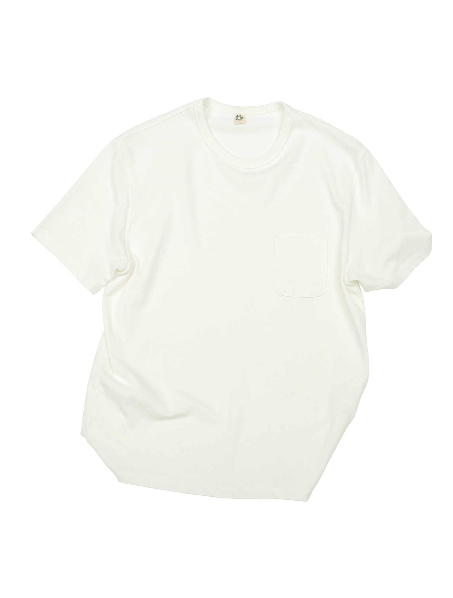 [올드비] GEN COTTON CREWNECK T-SHIRT OFF WHITE