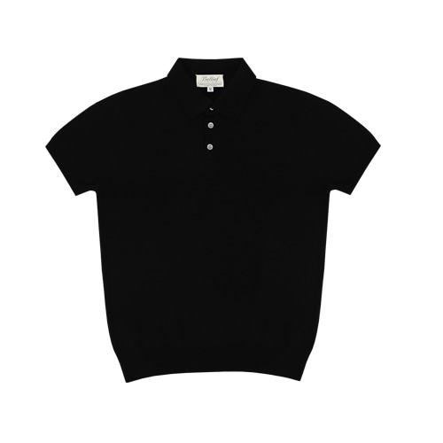[벨리프] Soft polo kint (Black)