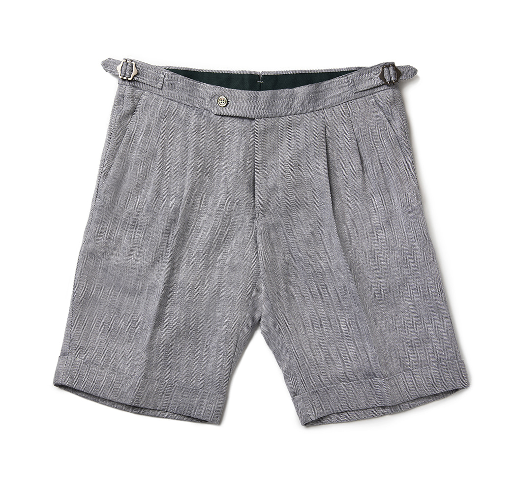 [루니포르메]  Bermuda linen shorts - Blue