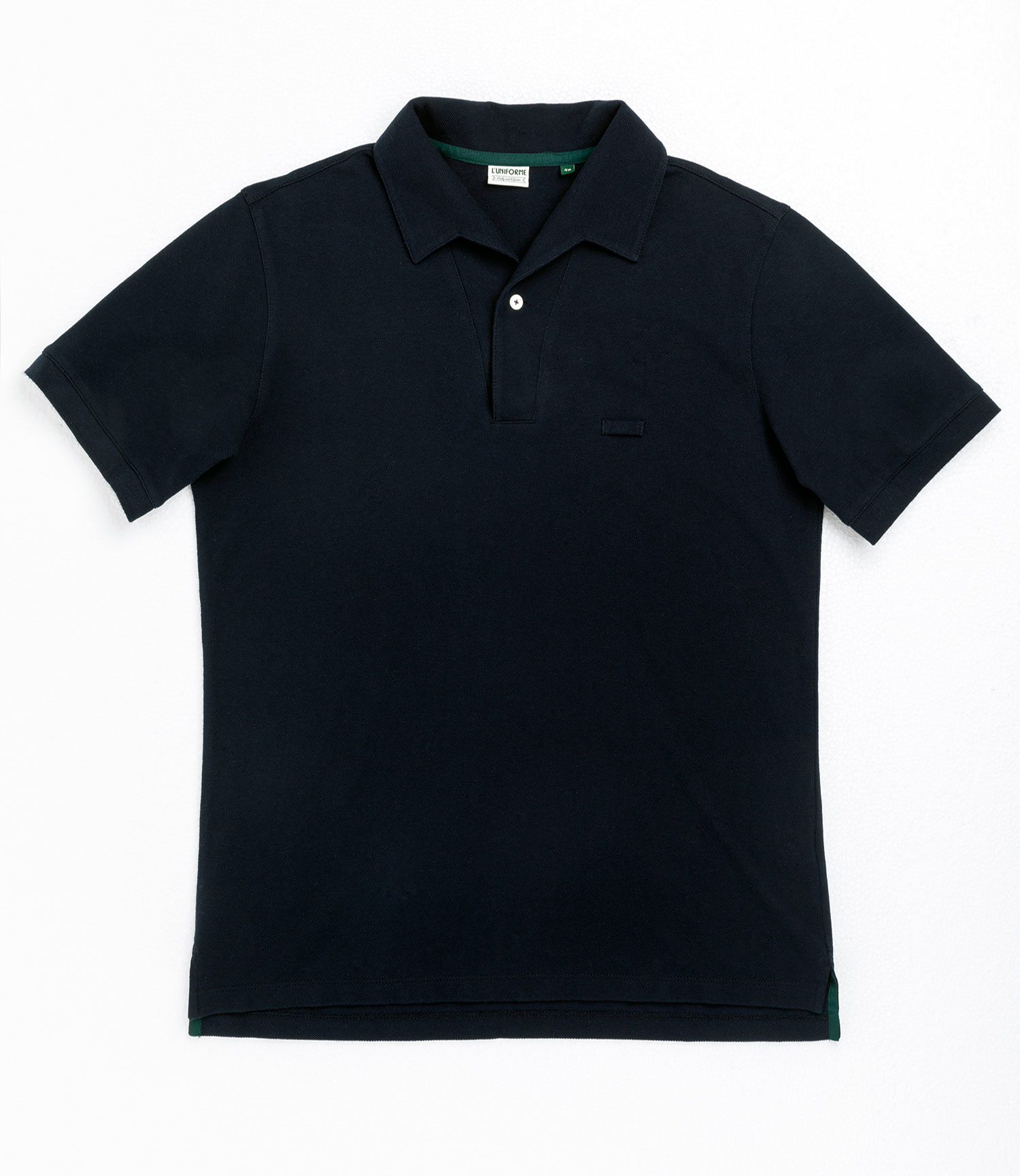 [루니포르메]  One piece collar pique shirt - Navy