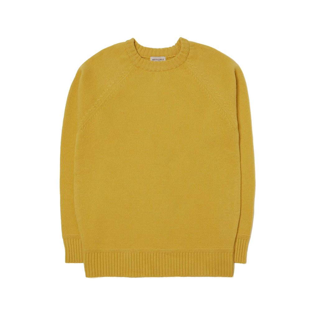 [맨인정글] Bushwick-raglan-Crew-neck Sweater (yellow)