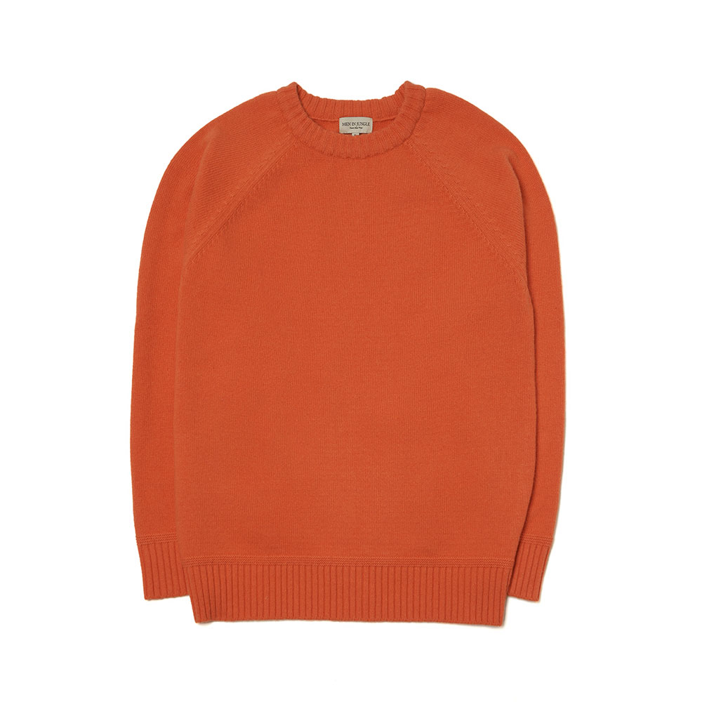 [맨인정글] Bushwick-raglan-Crew-neck Sweater (orange)