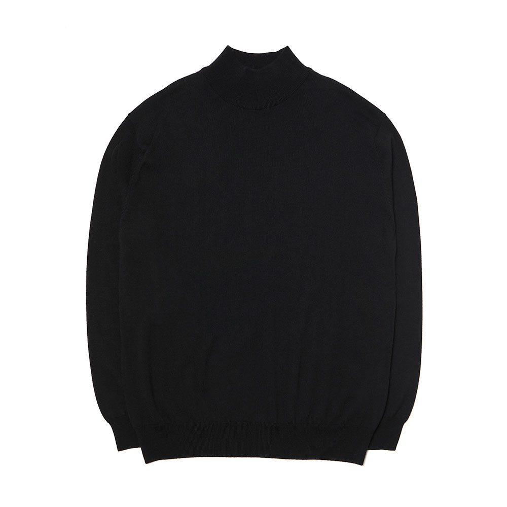 [맨인정글] Kings Merino Wool Mock-neck Knit - Black