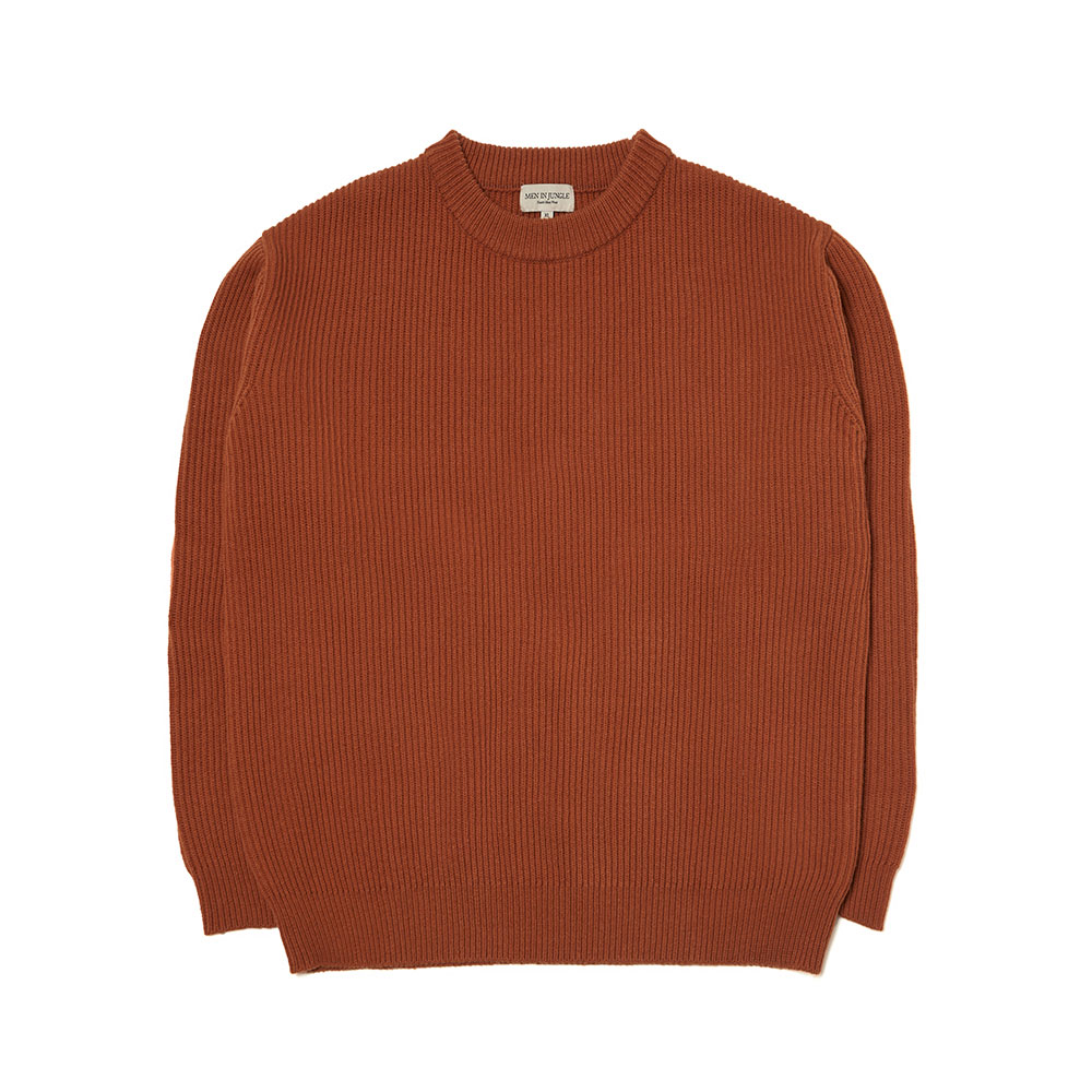 [맨인정글] Coney Fishermen Crew-neck Sweater - Burnt Orange