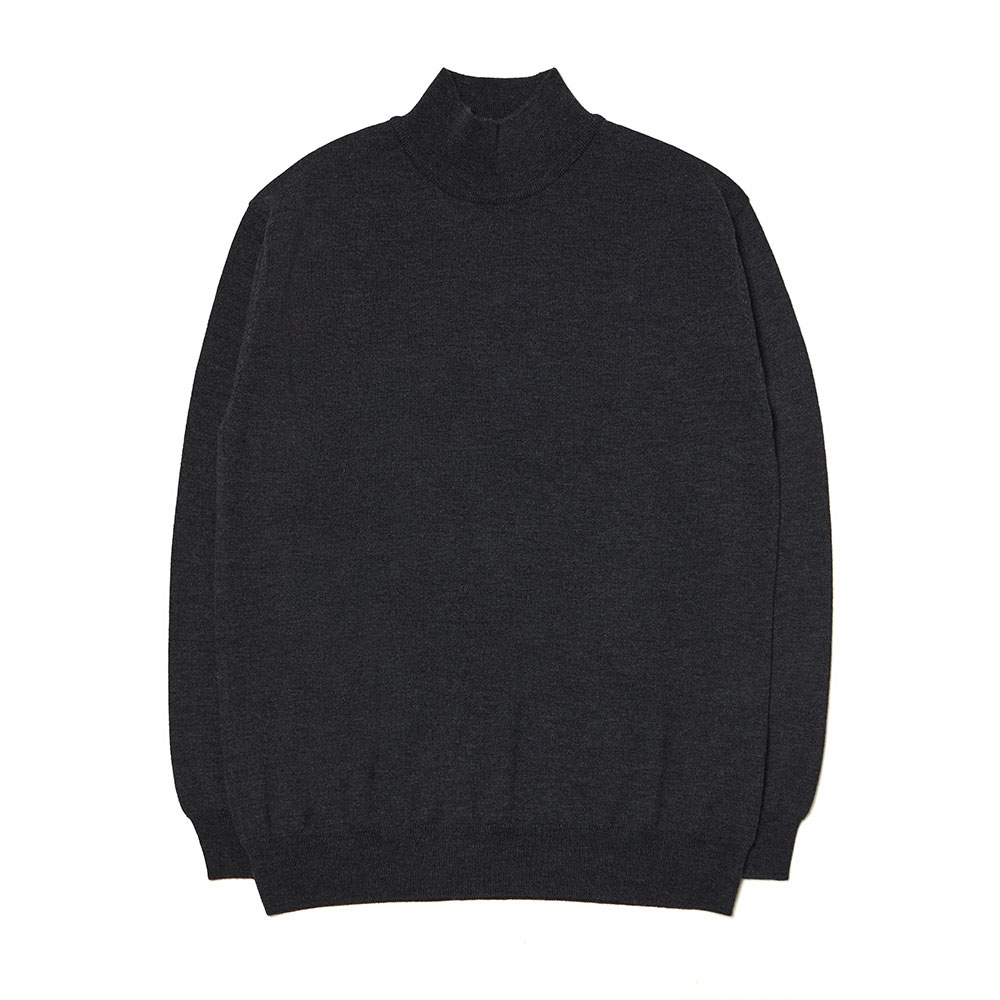 [맨인정글] Kings Merino Wool Mock-neck Knit - Charcoal