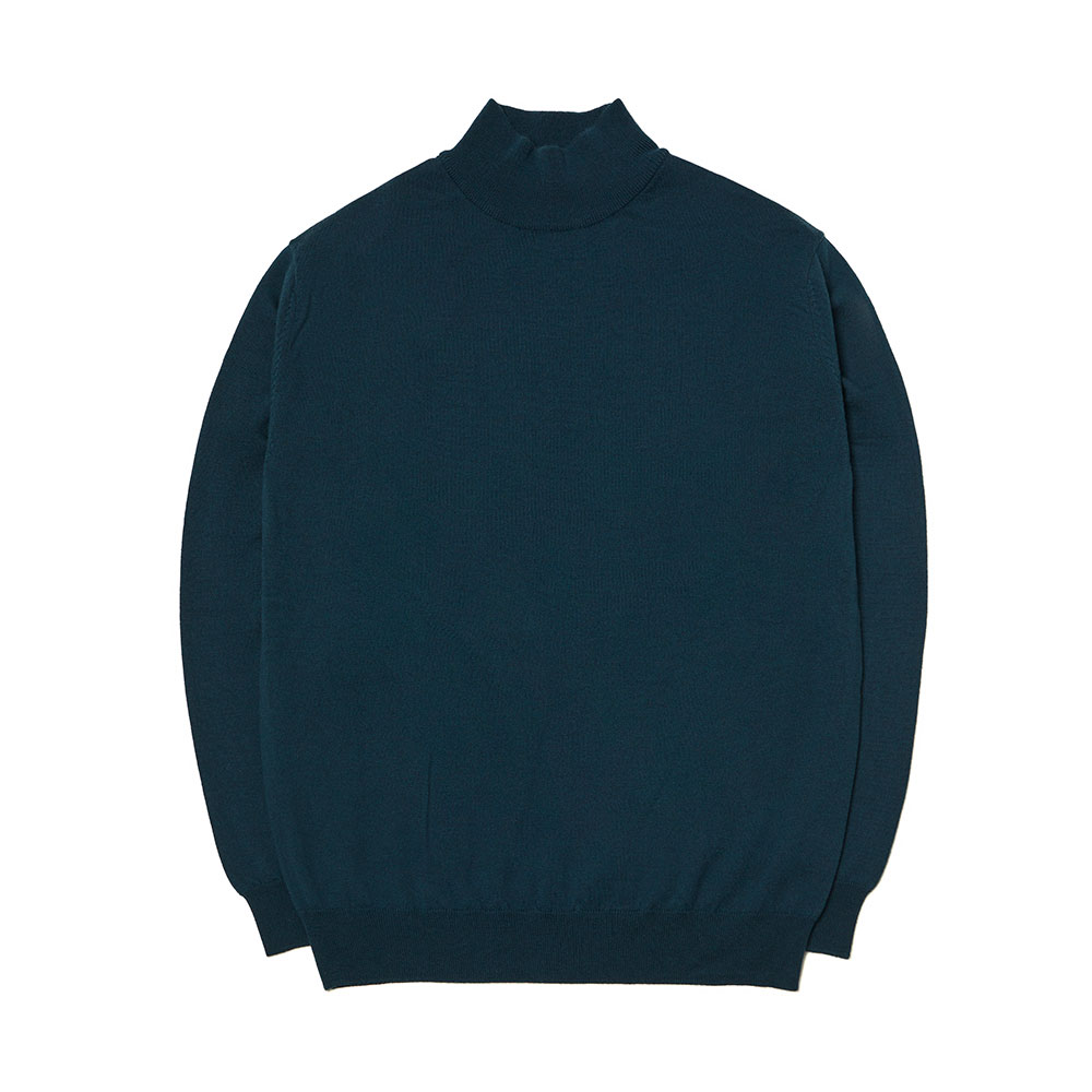 [맨인정글]  Kings Merino Wool Mock-neck Knit - Blue Green