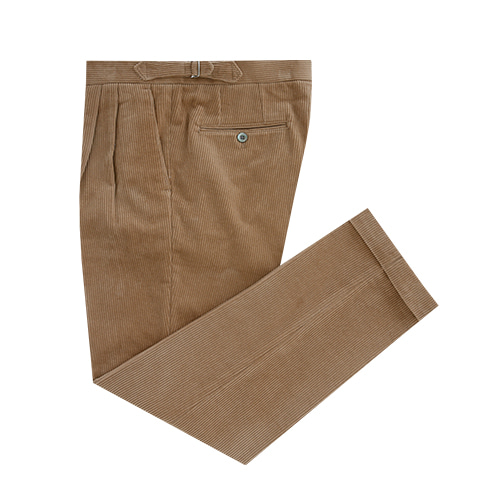[벨리프] Corduroy two tuck adjust pants (Camel)
