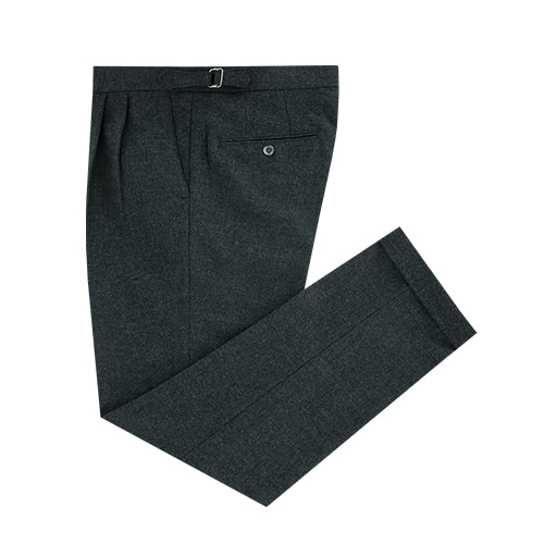 [벨리프] Wool Flannel two tuck adjust pants (Grey) -12/11일 재입고
