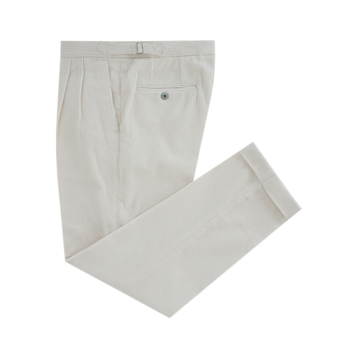 [벨리프] Corduroy two tuck adjust pants (Cream)