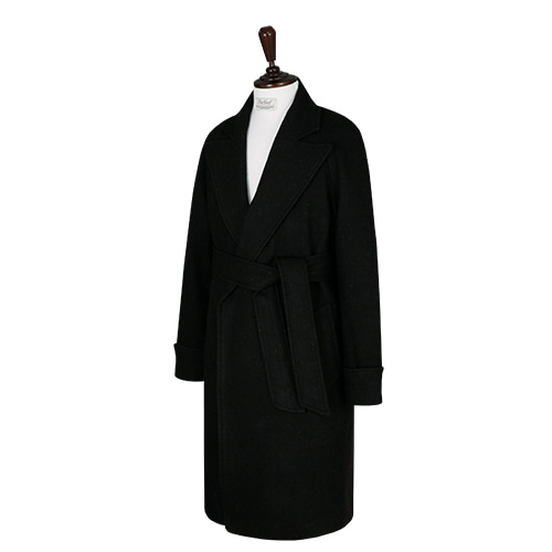 [벨리프] Cashmere Herringbone Raglan Robe Coat (BROWN)
