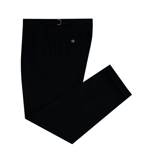 [벨리프]안티코 단독 Wool Flannel two tuck adjust pants (BLACK)