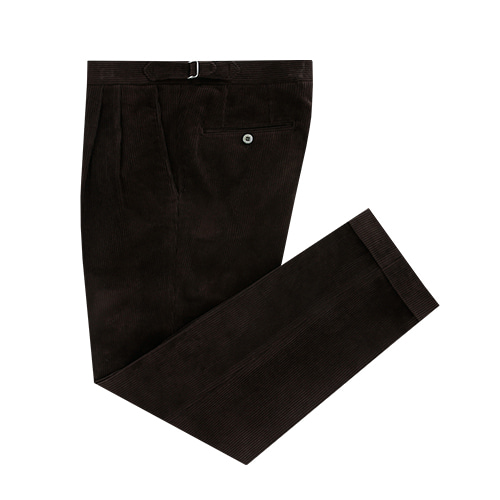 [벨리프] Corduroy two tuck adjust pants (Brown)