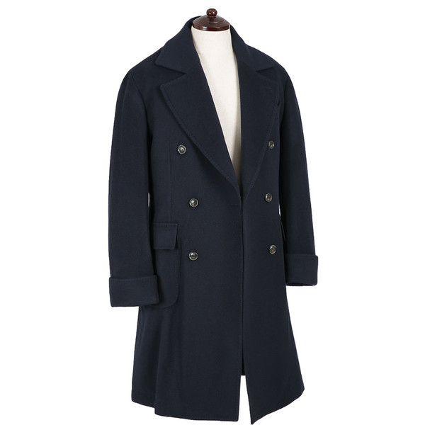 [솔티] - KGN-6 Wool Polo Coat (Navy)