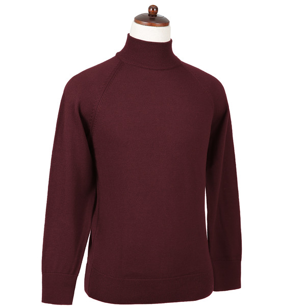 SORTIE - Superfine Merino Wool Mock-neck (Wine)