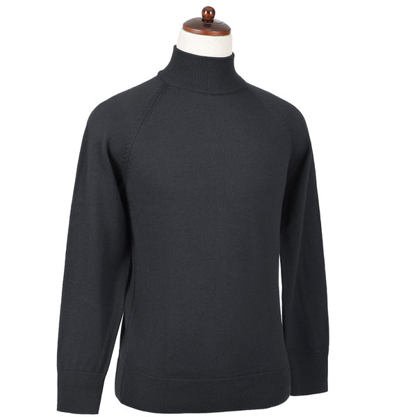 SORTIE - Superfine Merino Wool Mock-neck (Gray)
