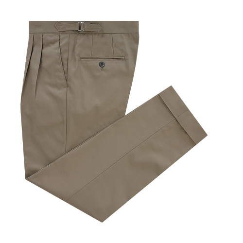 [벨리프] Essential Gaberdine cotton two tuck adjust chino (Khaki)